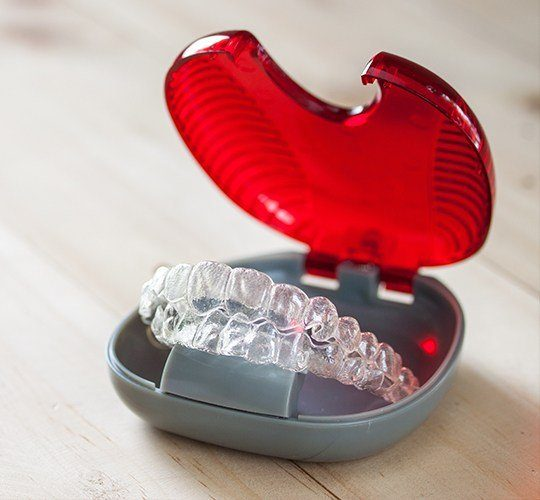 invisalign in red case