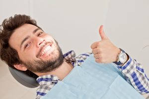 happy dental patient
